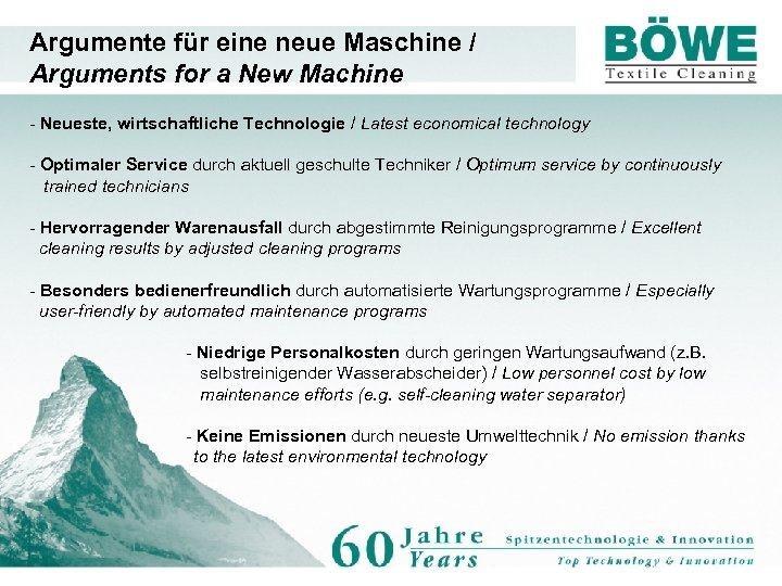 Argumente für eine neue Maschine / Arguments for a New Machine - Neueste, wirtschaftliche