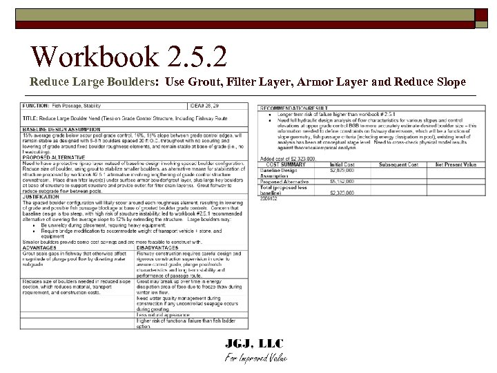 Workbook 2. 5. 2 Reduce Large Boulders: Use Grout, Filter Layer, Armor Layer and