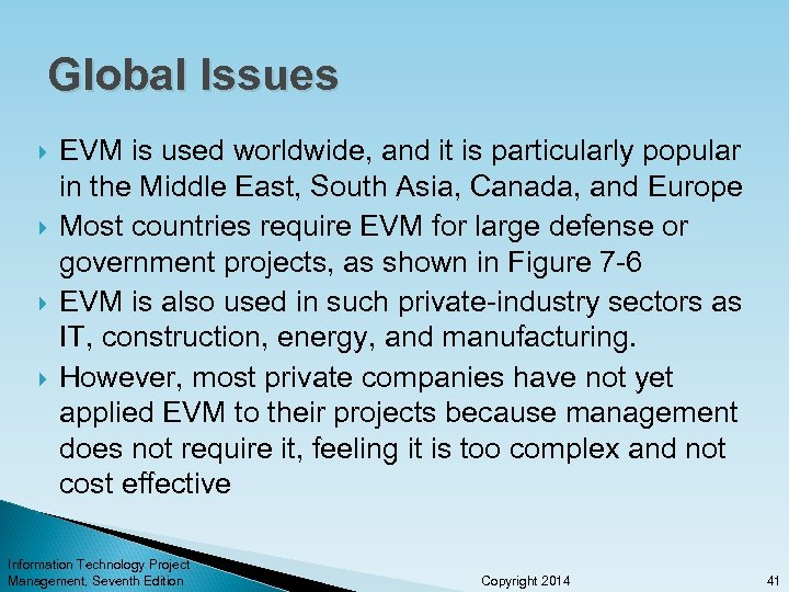 Global Issues EVM is used worldwide, and it is particularly popular in the Middle