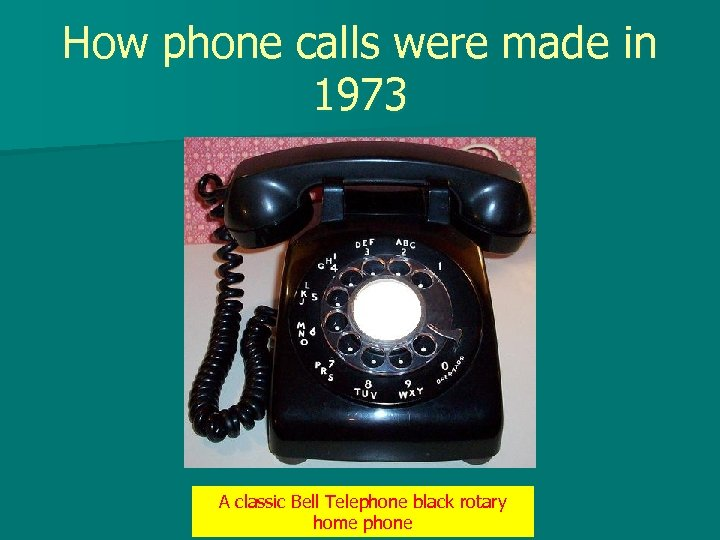 How phone calls were made in 1973 A classic Bell Telephone black rotary home