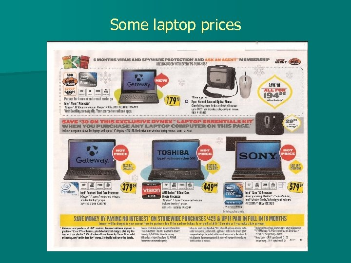 Some laptop prices