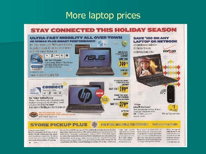 More laptop prices