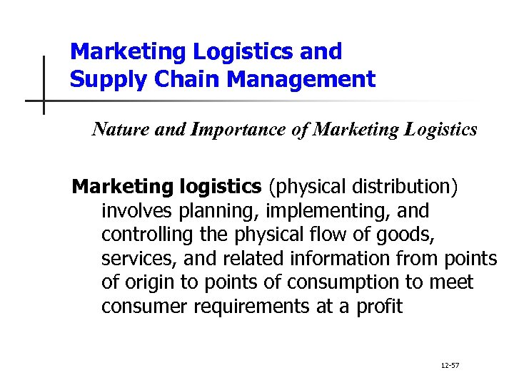12 Principles of Marketing Channels and Supply Chain