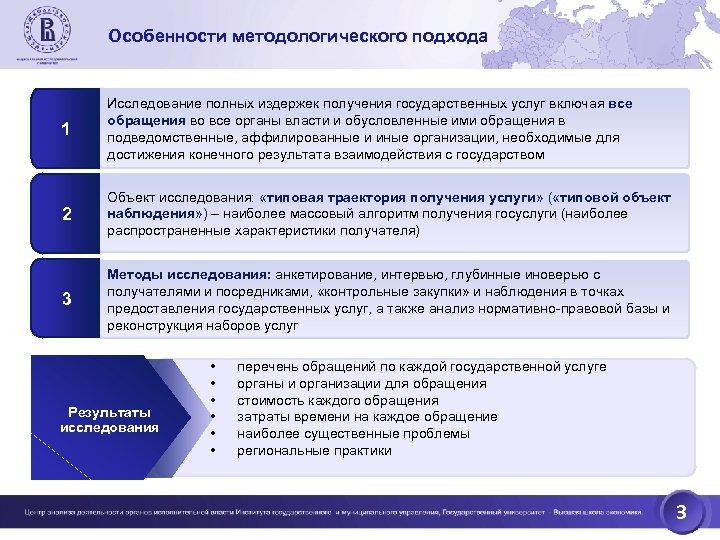 Особенности методологического подхода 1 Исследование полных издержек получения государственных услуг включая все обращения во