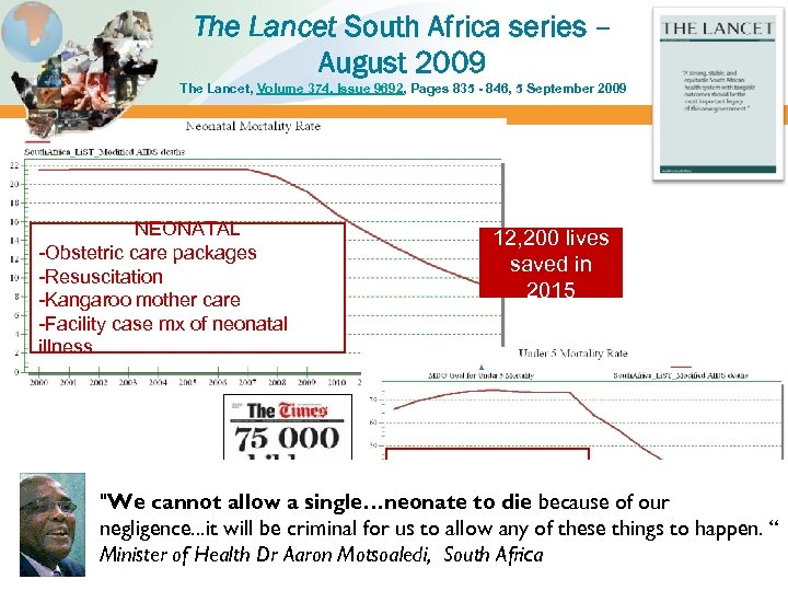 The Lancet South Africa series – August 2009 The Lancet, Volume 374, Issue 9692,
