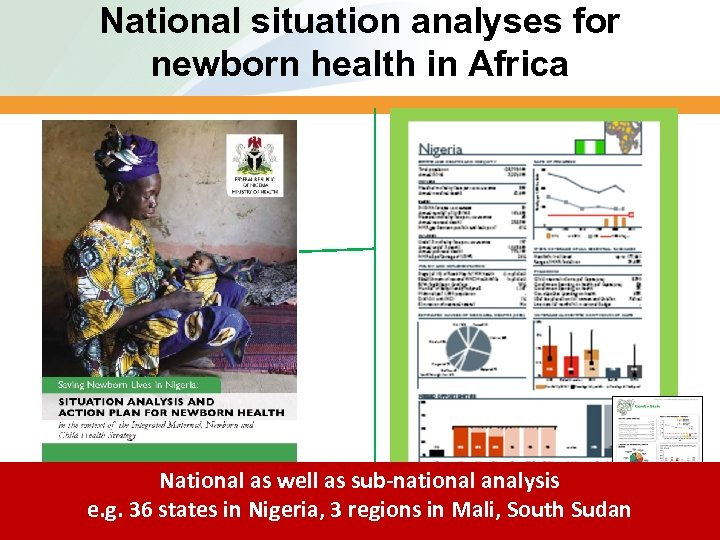 National situation analyses for newborn health in Africa National as well as sub-national analysis