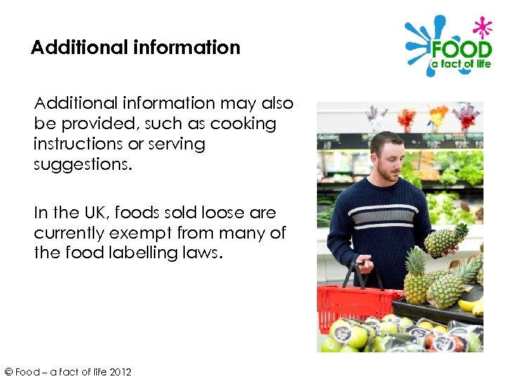 Additional information may also be provided, such as cooking instructions or serving suggestions. In