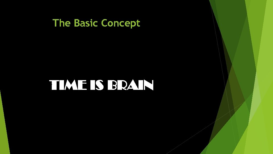 The Basic Concept TIME IS BRAIN