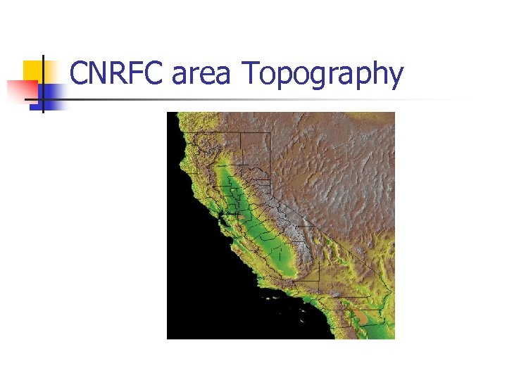 CNRFC area Topography