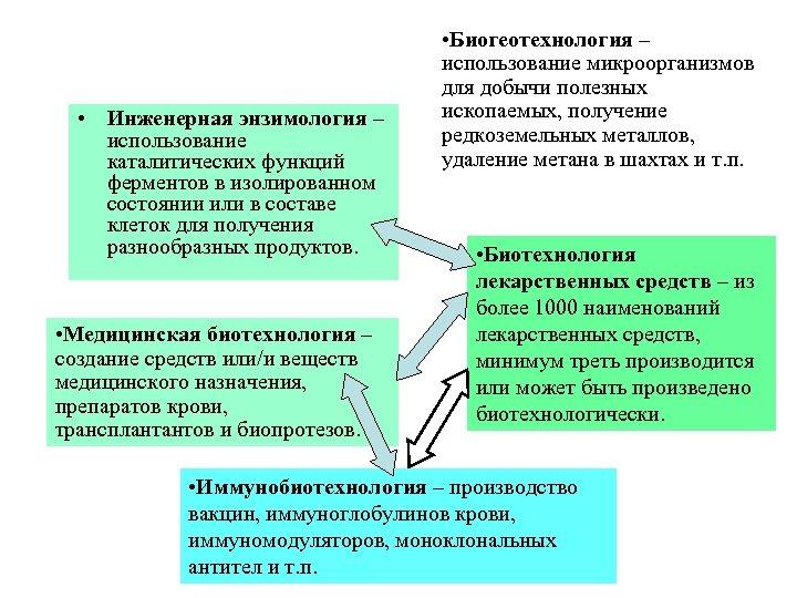 • Инженерная энзимология – использование каталитических функций ферментов в изолированном состоянии или в