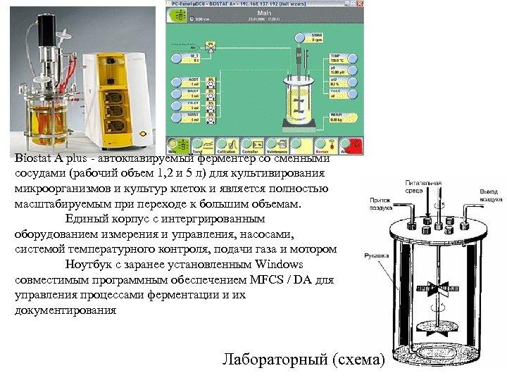 Biostat A plus - автоклавируемый ферментер со сменными сосудами (рабочий объем 1, 2 и