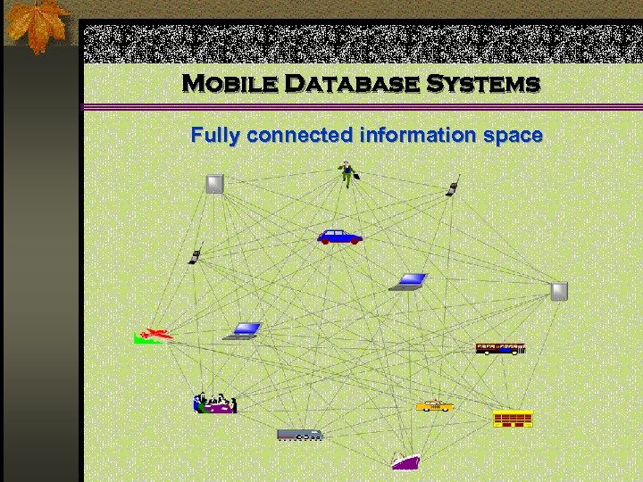 Mobile Database Systems Fully connected information space