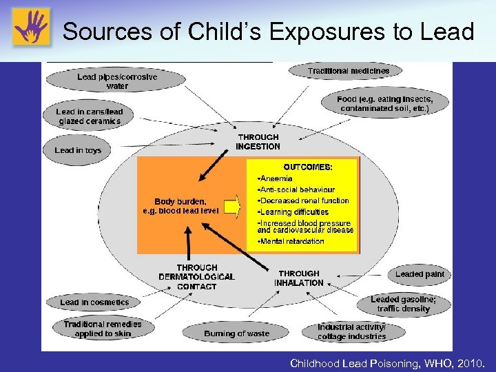 Sources of Child's Exposures to Lead Childhood Lead Poisoning, WHO, 2010.