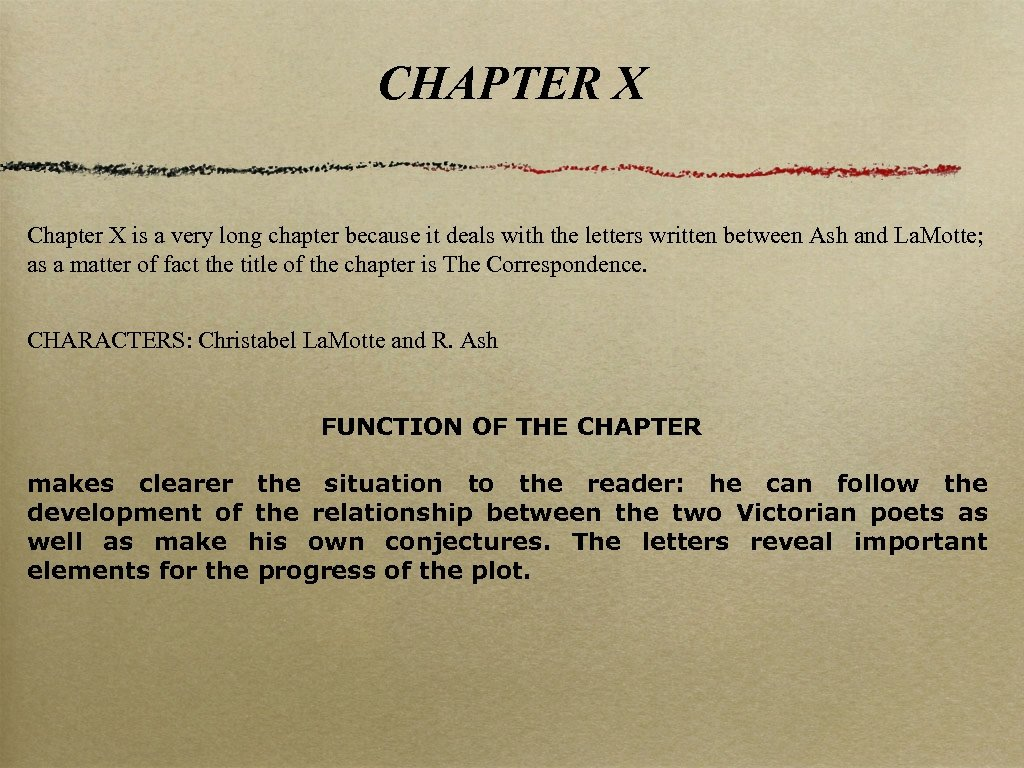CHAPTER X Chapter X is a very long chapter because it deals with the