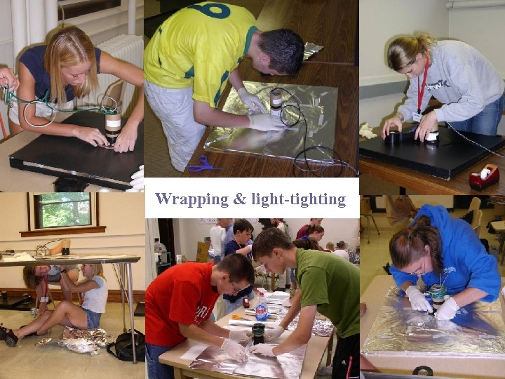 Wrapping & light-tighting