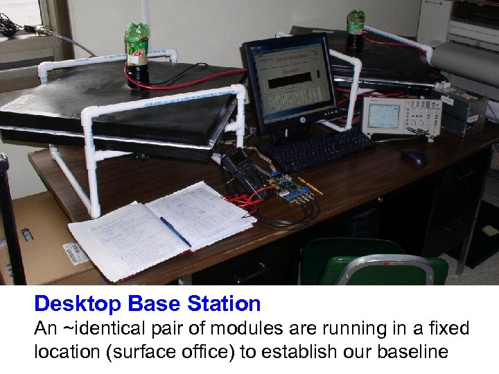 Desktop Base Station An ~identical pair of modules are running in a fixed location