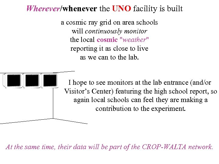 Wherever/whenever the UNO facility is built a cosmic ray grid on area schools will