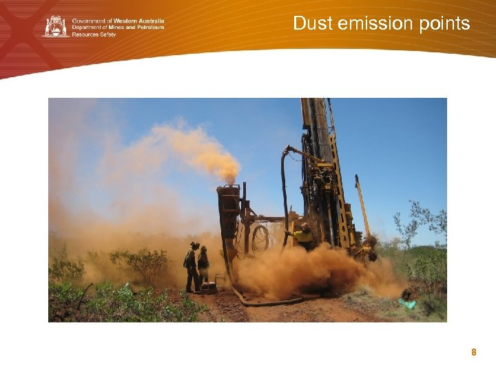 Dust emission points 8