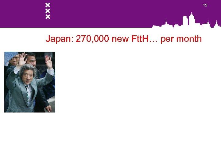 15 Japan: 270, 000 new Ftt. H… per month