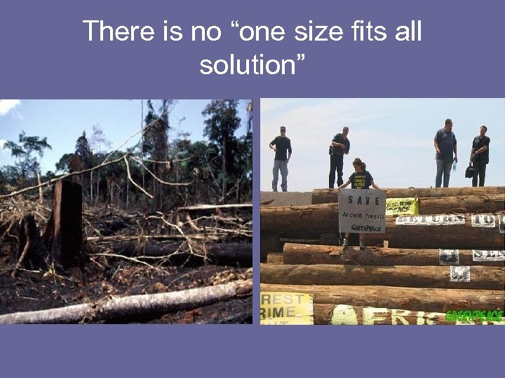 """There is no """"one size fits all solution"""""""