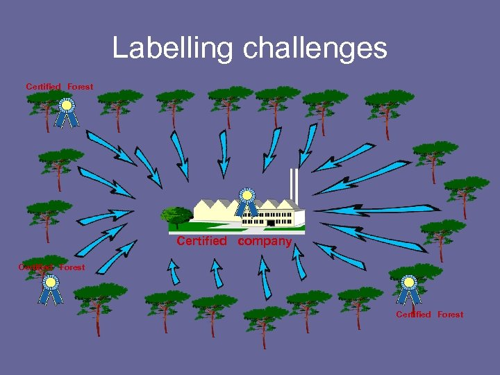 Labelling challenges Certified Forest Certified company Certified Forest
