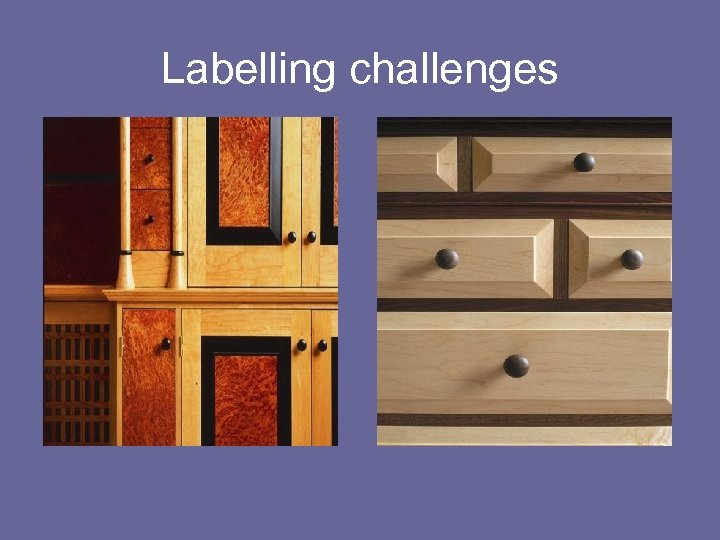 Labelling challenges