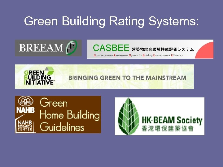 Green Building Rating Systems: