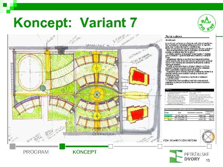 Koncept: Variant 7 PROGRAM KONCEPT 13