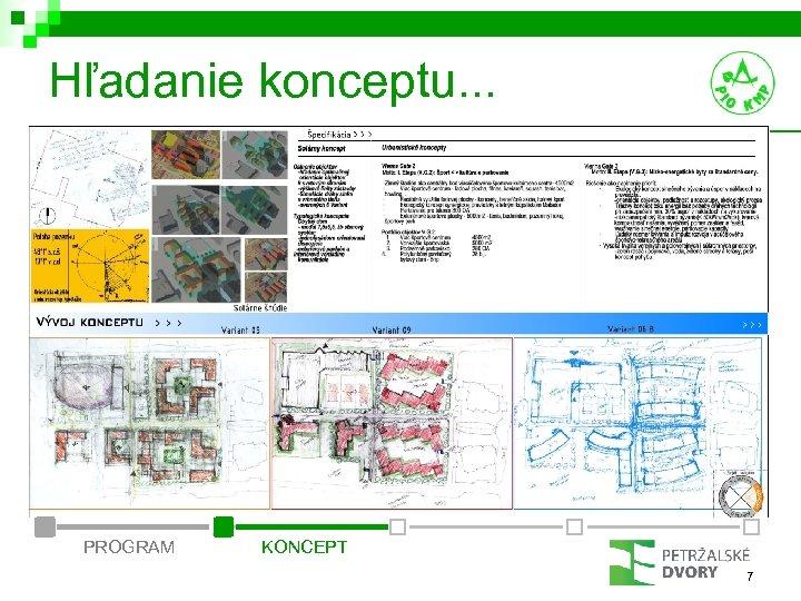 Hľadanie konceptu. . . PROGRAM KONCEPT 7