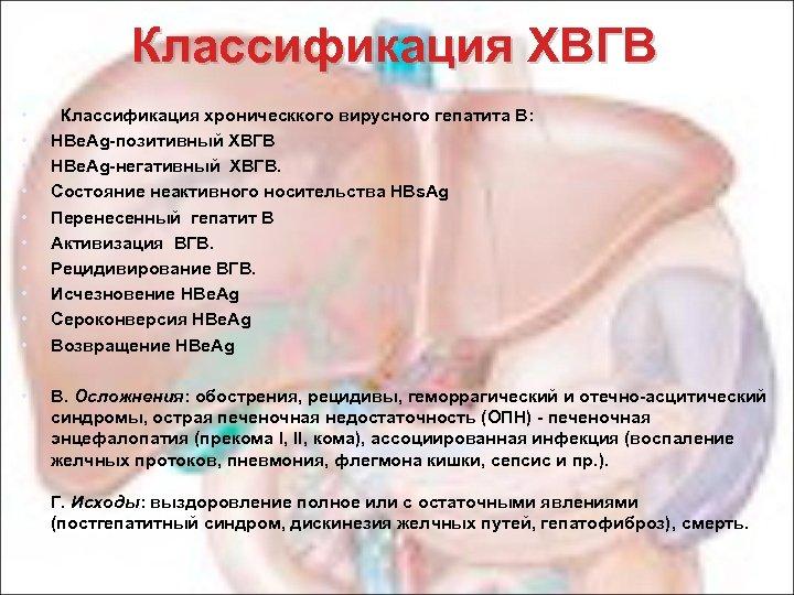 Классификация ХВГВ • • • Классификация хроническкого вирусного гепатита В: HBe. Ag-позитивный ХВГВ HBe.