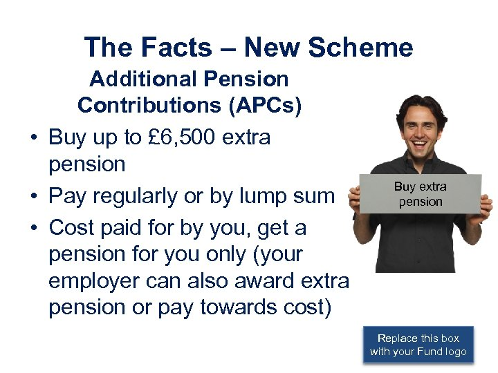 The Facts – New Scheme Additional Pension Contributions (APCs) • Buy up to £