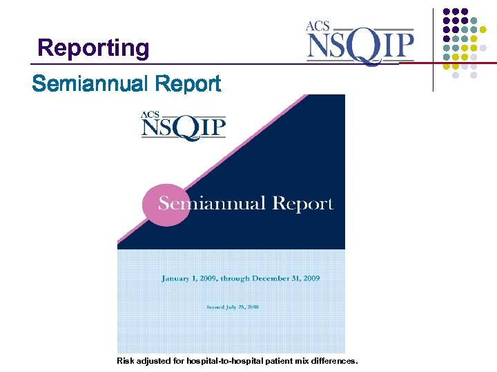 Reporting _______________ Semiannual Report Risk adjusted for hospital-to-hospital patient mix differences.