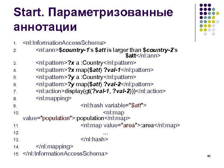 Start. Параметризованные аннотации 1. 2. 3. 4. 5. 6. 7. 8. 9. 10. 11.