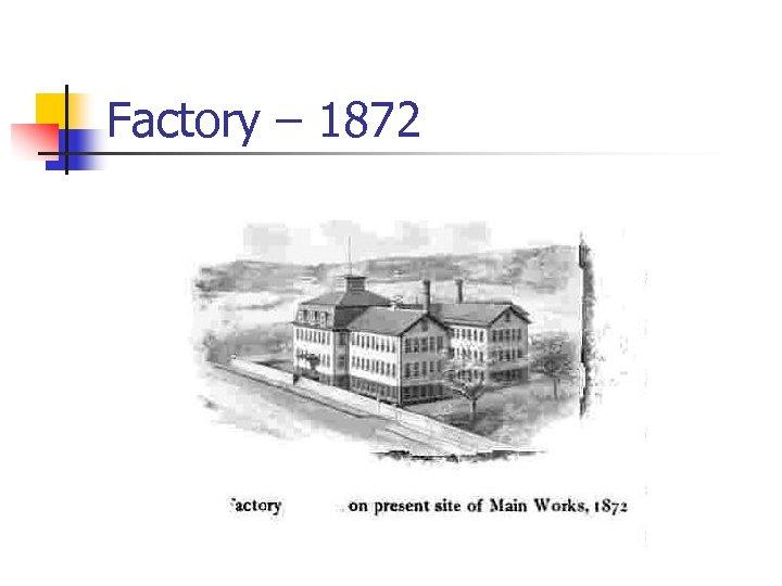 Factory – 1872
