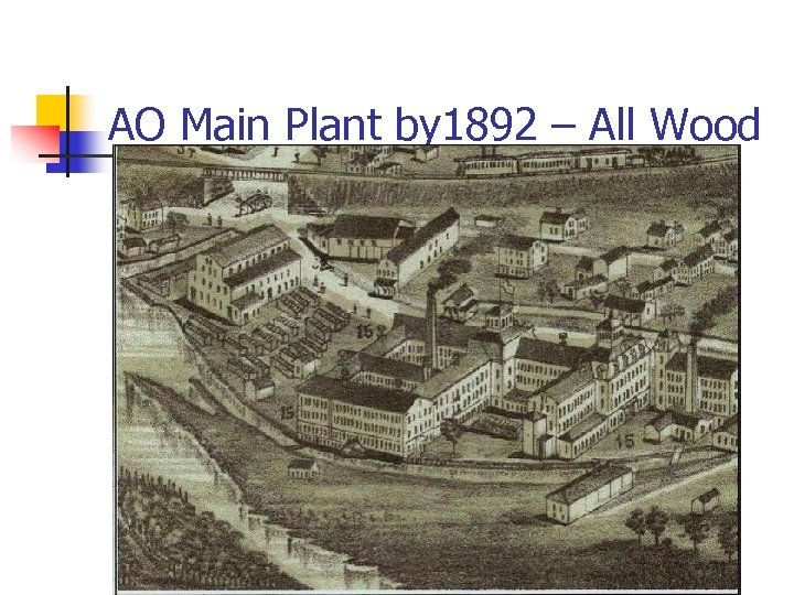 AO Main Plant by 1892 – All Wood