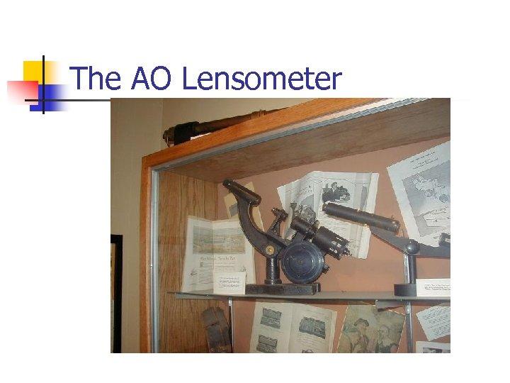 The AO Lensometer