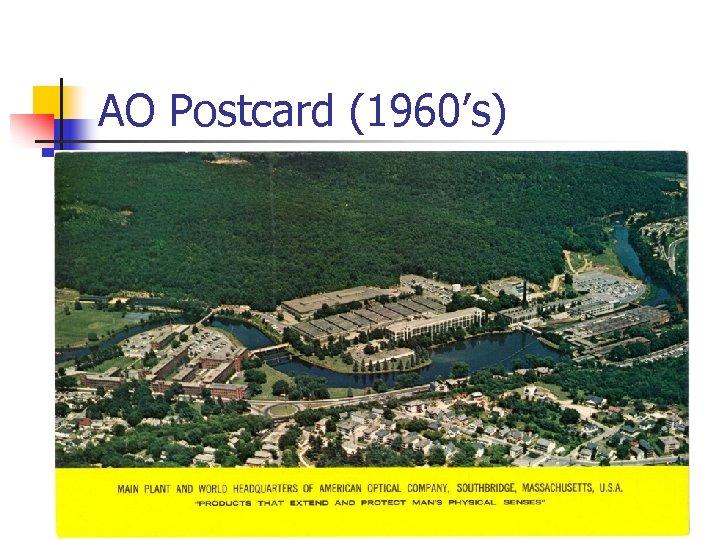 AO Postcard (1960's)