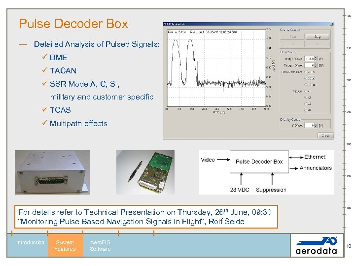 Pulse Decoder Box — Detailed Analysis of Pulsed Signals: 400 350 ü DME ü