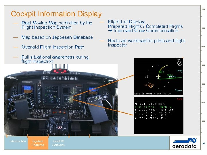 Cockpit Information Display — Real Moving Map controlled by the Flight Inspection System —