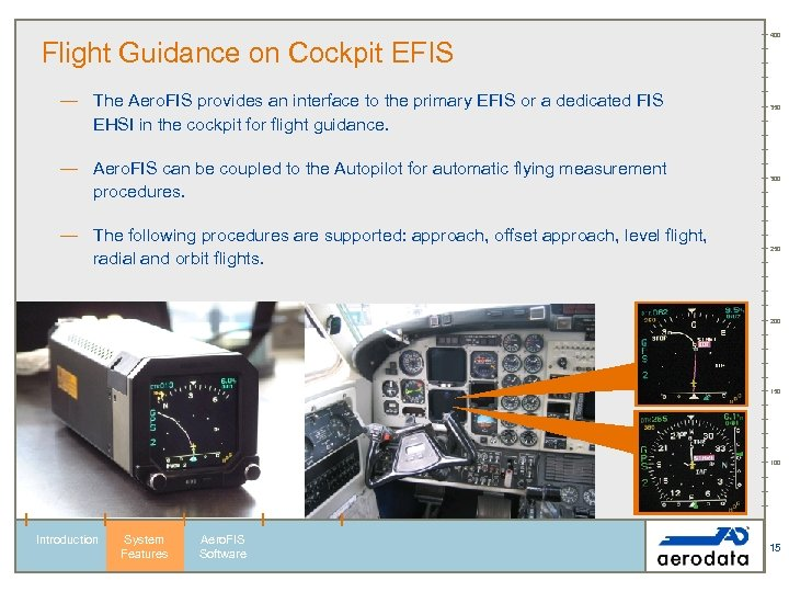 Flight Guidance on Cockpit EFIS — The Aero. FIS provides an interface to the