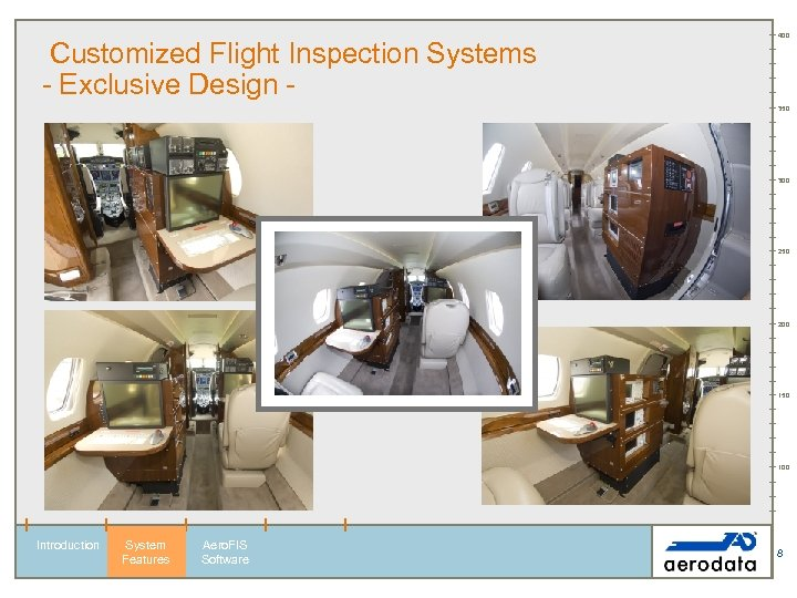 Customized Flight Inspection Systems - Exclusive Design - 400 350 300 250 200 150
