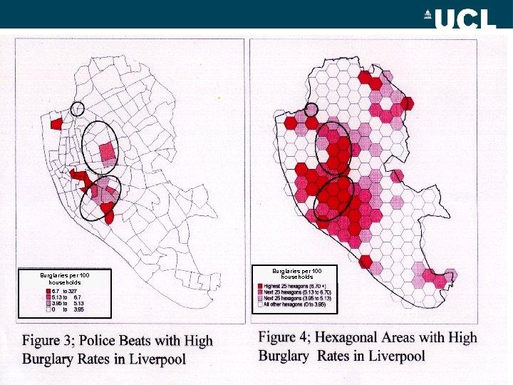 Burglaries per 100 households