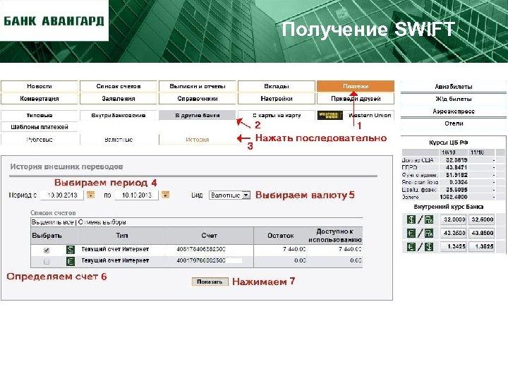 Получение SWIFT