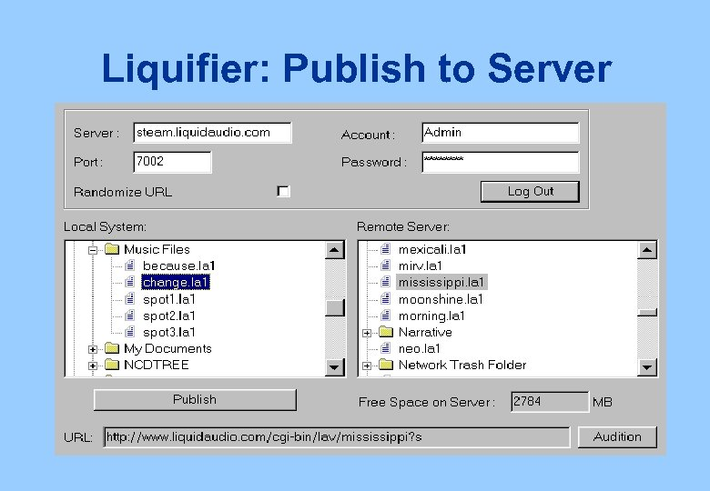 Liquifier: Publish to Server