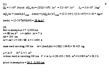 (c) 8 QH = 1 104 J/cycle QH / t = (25)(1 104) J.