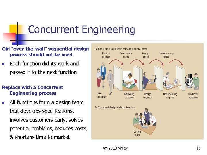 """Concurrent Engineering Old """"over-the-wall"""" sequential design process should not be used n Each function"""