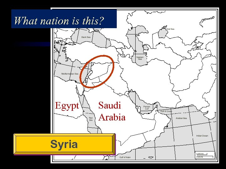 What nation is this? Egypt Syria Saudi Arabia