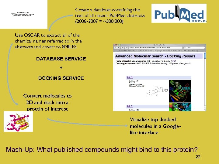 Create a database containing the text of all recent Pub. Med abstracts (2006 -2007