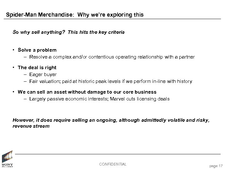 Spider-Man Merchandise: Why we're exploring this So why sell anything? This hits the key