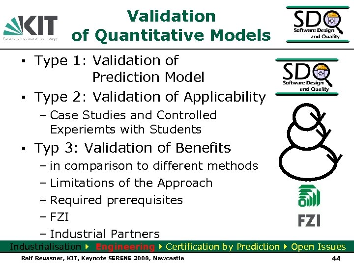 Validation of Quantitative Models ▪ Type 1: Validation of Prediction Model ▪ Type 2: